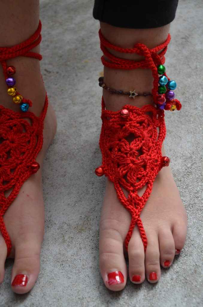 Barefoot sandals red