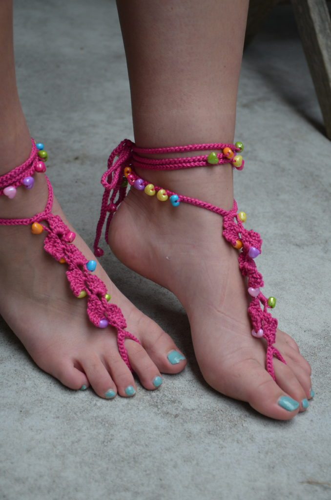 Barefootsandals in pink