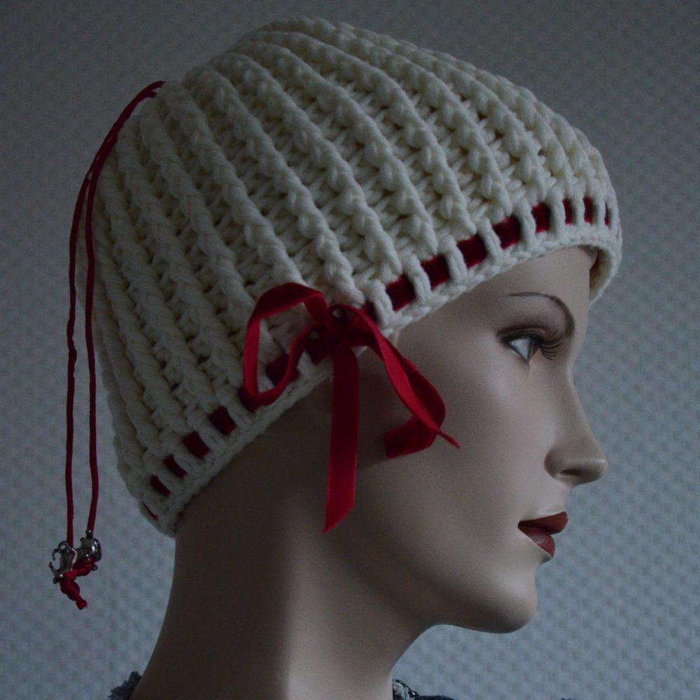 Gehäkelte Kopfbedeckung