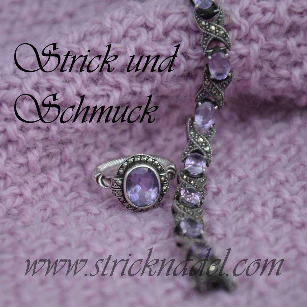 Amethystschmuck - ein Ring und ein Armband. Ergänzt um Markasiten
